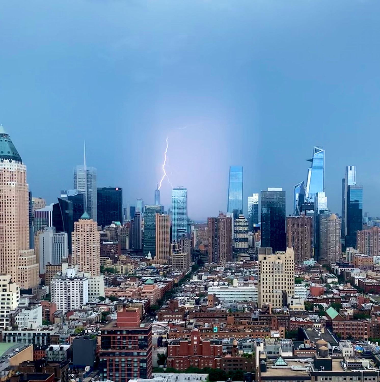 Lichtsäule in New York